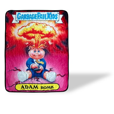 Just Funky Garbage Pail Kids Adam Bomb Large Fleece Throw Blanket | 60 x 45 Inches