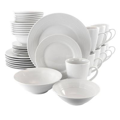 Gibson Home 40pc Ceramic Jubilee Dinnerware Set