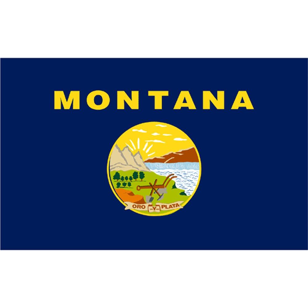 Image of Halloween Montana State Flag - 4' x 6'