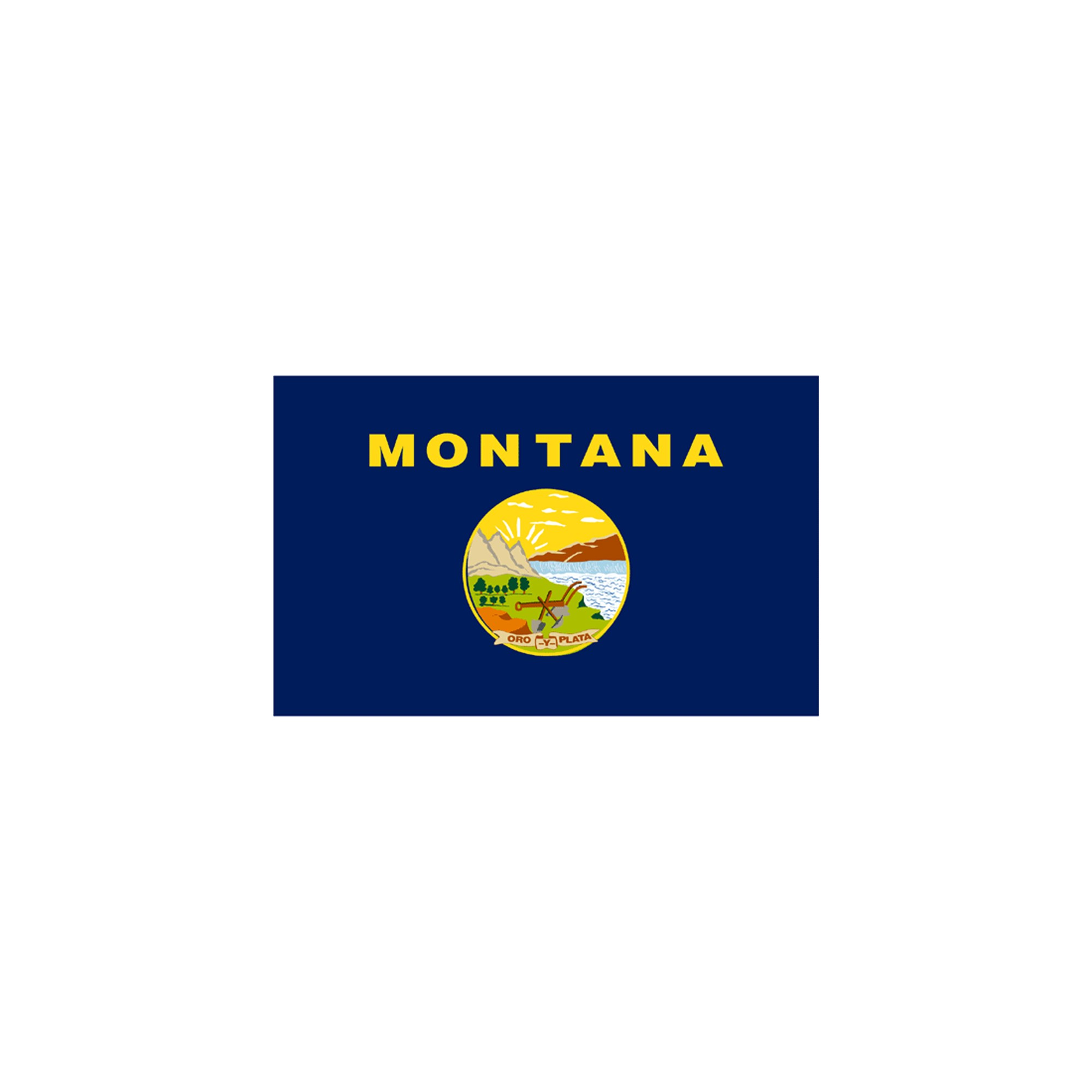 Halloween Montana State Flag - 4' x 6'