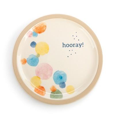 DEMDACO Hooray! Plate White