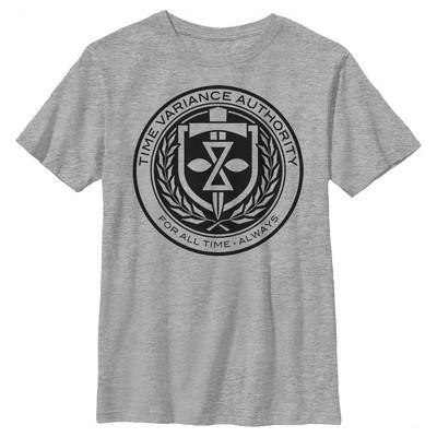 Boy's Marvel Loki Time Variance Authority Logo T-Shirt