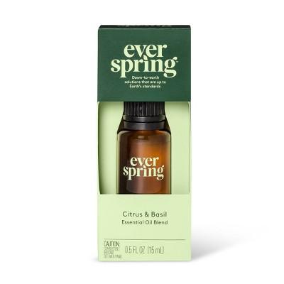 Citrus & Basil Essential Oil Blend - 0.5 fl oz - Everspring™