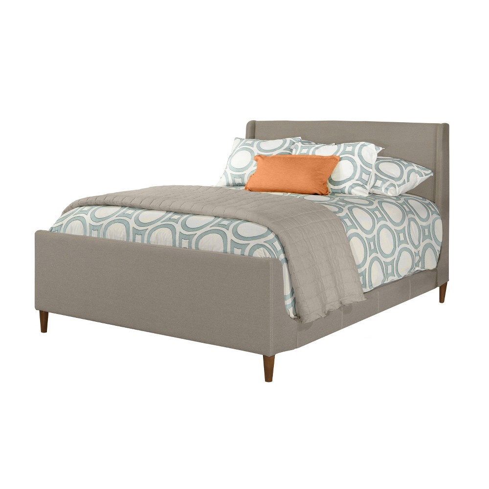Denmark Upholstered Bed Set King Linen Charcoal Fabric - Hillsdale Furniture, Gray