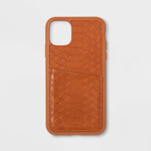 heyday™ Apple iPhone 11 Case with Pockets - Tan Crocodile - image 1 of 1