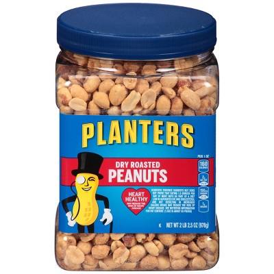 Planters Dry Roasted Peanuts - 34.5oz