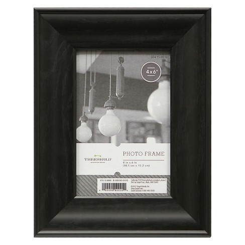 "4""x6"" Black with Wood Grain Frame - Threshold™ - image 1 of 1"