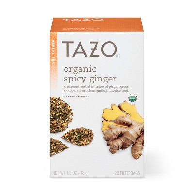Tazo Organic Spicy Ginger Herbal Tea - 20ct