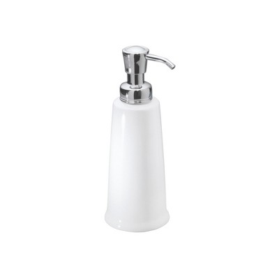 InterDesign York Ceramic Soap Pump 12oz White