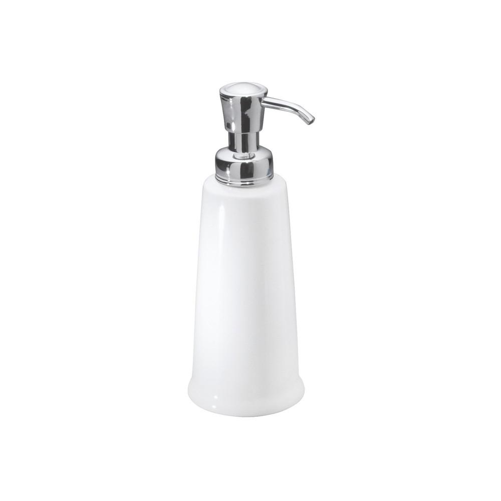 Image of InterDesign York Ceramic Soap Pump 12oz White