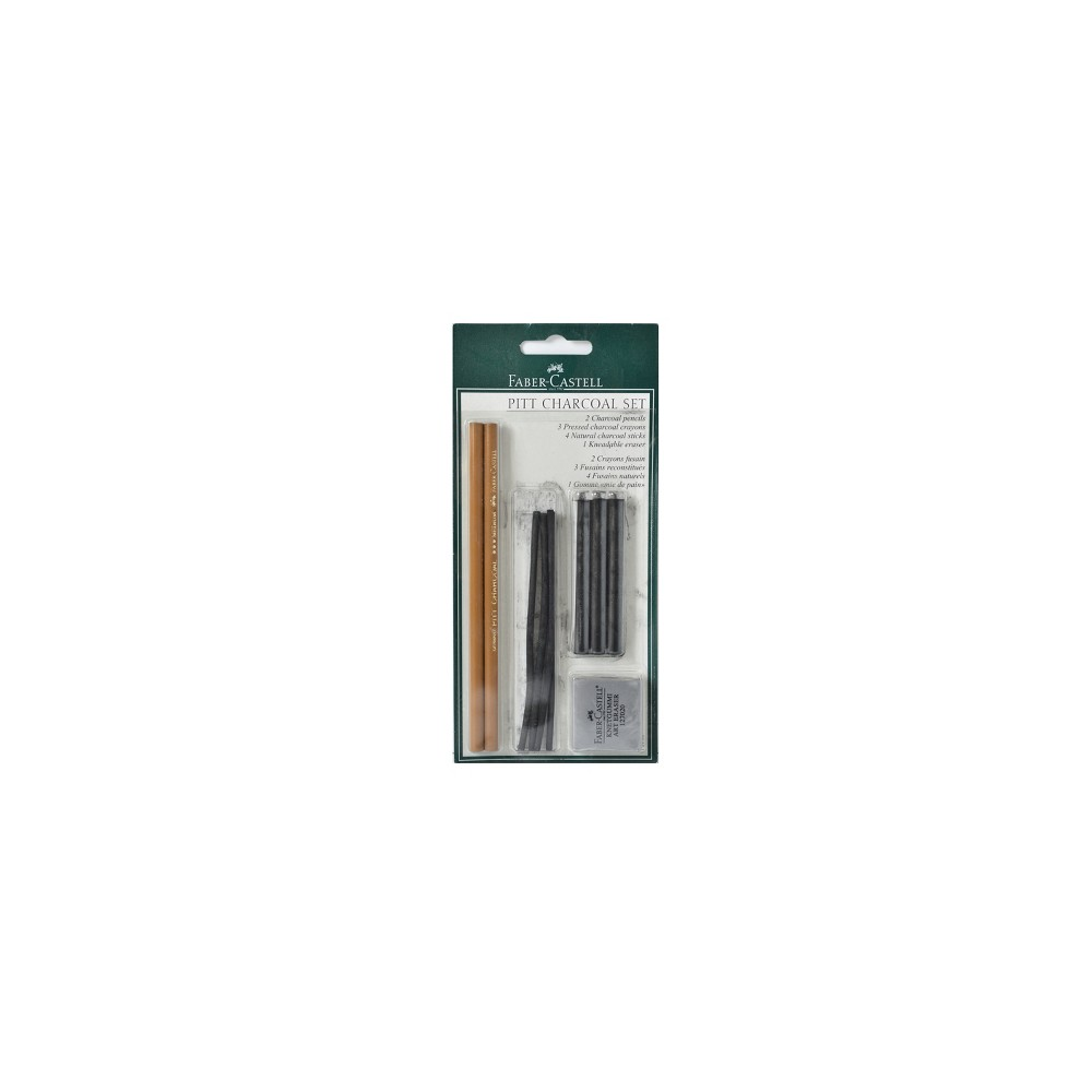Pitt Charcoal Set 10pc - Faber-Castell, Black
