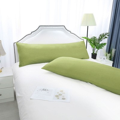 2 Pcs Body 1800 Series Soft Brushed Microfiber Pillow Cover Sage Green - PiccoCasa