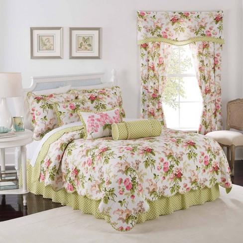 Waverly Emma S Garden 4 Piece Quilt Set, Waverly Bedding Set Queen