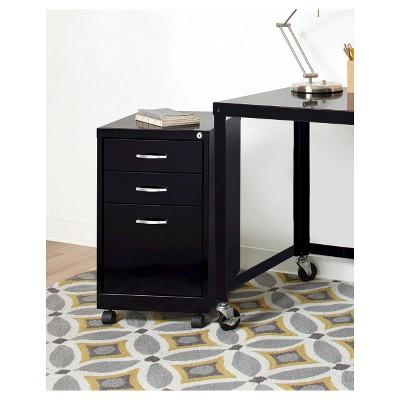 Hirsh Industries® Office Dimensions File Cabinet On Wheels, 3 Drawer   Black  : Target