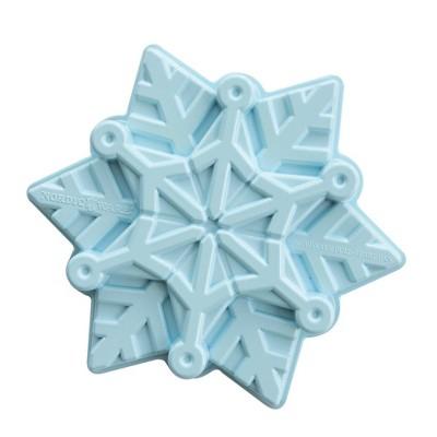"Frozen 2 11"" x 9.6"" x 2.3"" Metal Snowflake Cake Pan Blue - Nordic Ware"