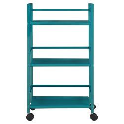 Trinity 3 Shelf Metal Rolling Utility Cart - Room & Joy