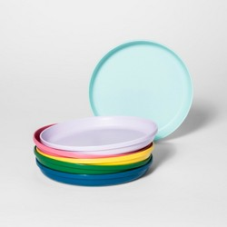 "7.3"" 6pk Plastic Kids Dinner Plates - Pillowfort™"
