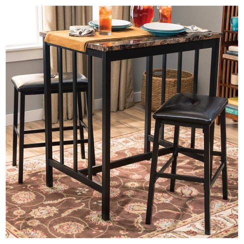 3pc Table & 2 Chairs - Brown - Home Source - image 1 of 4
