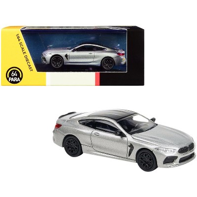 BMW M8 Coupe Donington Gray Metallic with Black Top 1/64 Diecast Model Car by Paragon