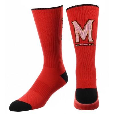 NCAA Maryland Terrapins Big Game Crew Socks 10-13