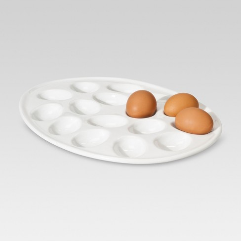 Deviled Egg Platter 13.7x10.63in Ceramic - Threshold™ - image 1 of 1