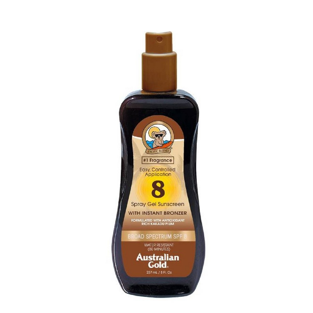 Image of Australian Gold Sunscreen Spray Gel with Instant Bronzer - SPF8 - 8oz