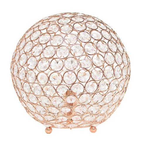 """10"""" Crystal Ball Sequin Table Lamp Rose Gold - Elegant Designs - image 1 of 4"""