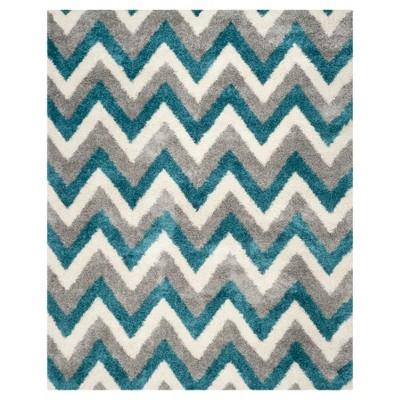 Adken Area Rug - Ivory/Blue (8'x10')- Safavieh®