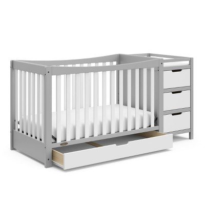 Graco Remi 4-in-1 Convertible Crib and Changer - Pebble Gray/White