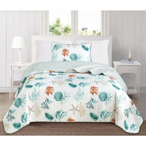 Great Bay Home Coastal Themed Quilt Set - image 1 of 4