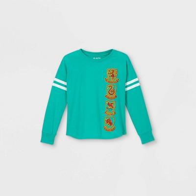Girls' Harry Potter 'Hogwarts' Long Sleeve Jersey T-Shirt - Blue