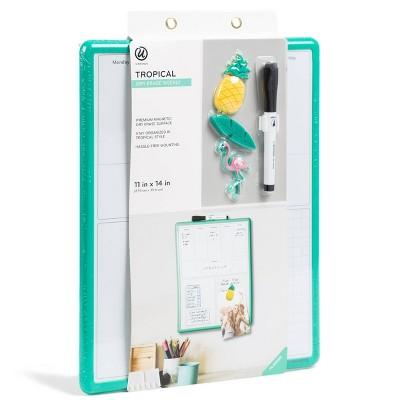"""11"""" X 14"""" Tropical Dry Erase Board   Weekly   U Brands by Weekly"""