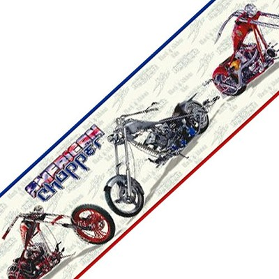 Motorcycle Wall Border Accent Roll - American Chopper..