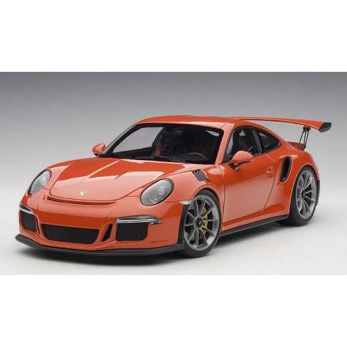 Porsche Gt3 Rs Price >> Porsche 911 991 Gt3 Rs Lava Orange With Dark Grey Wheels 1 18 Model Car By Autoart
