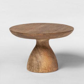 "10"" x 6.2"" Turned Wood Pedestal Brown - Threshold™"