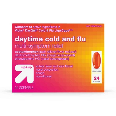 Daytime Cold & Flu Relief Softgels - 24ct - Up&Up™ - image 1 of 4