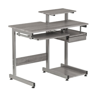Complete Computer Workstation Desk Gray - Techni Mobili