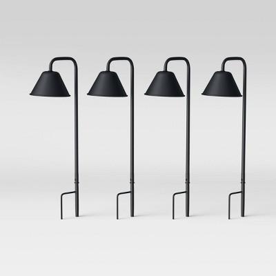 4pk LED Path Lights Cast Iron Gray - Smith & Hawken™