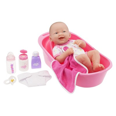 "JC Toys La Newborn 14"" Deluxe Bath Doll Set with Accessories"