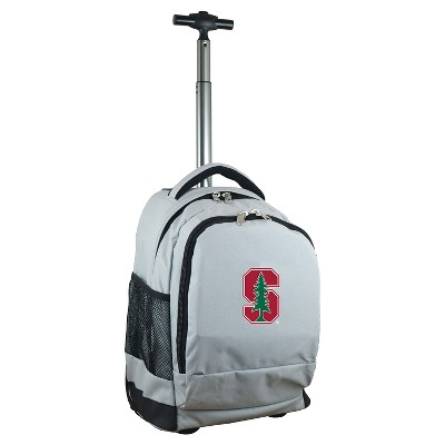 NCAA Stanford Cardinal Gray Premium Wheeled Backpack