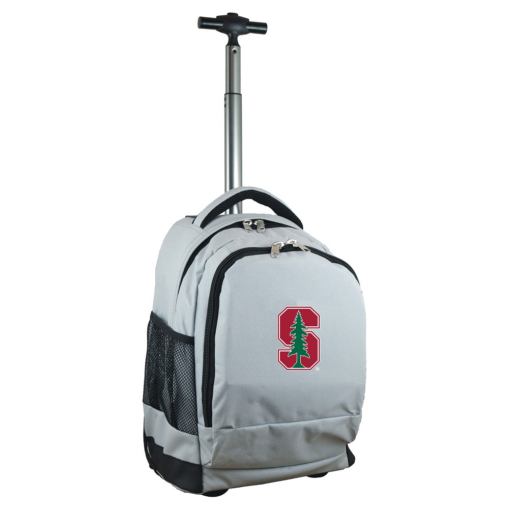 NCAA Stanford Cardinal Gray Premium Wheeled Backpack