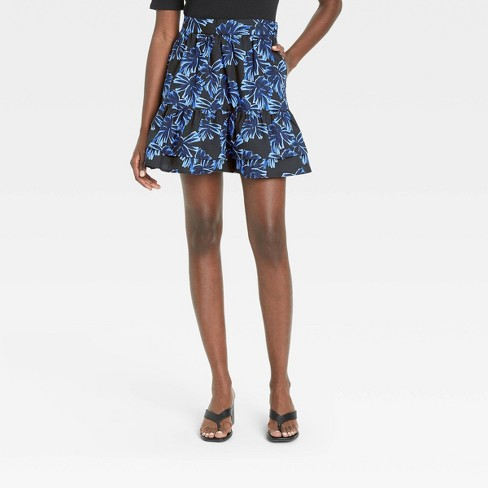 Women's Ruffle Hem Mini Skirt - Who What Wear™  - image 1 of 3