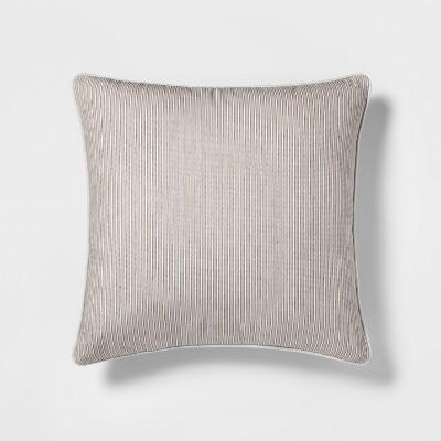 Stripe Oversize Throw Pillow Neutral - Threshold™