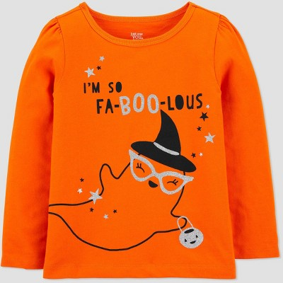 Toddler Girls' Halloween 'Fa-BOO-lous' T-Shirt - Just One You® made by carter's Orange 4T
