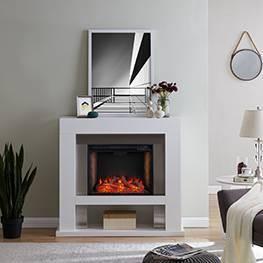 Lockman Stainless Steel Fireplace with Alexa Firebox - Aiden Lane