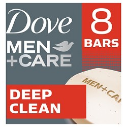 Dove Men+Care Deep Clean Purifying Body & Face Bar - 4oz/8ct Each