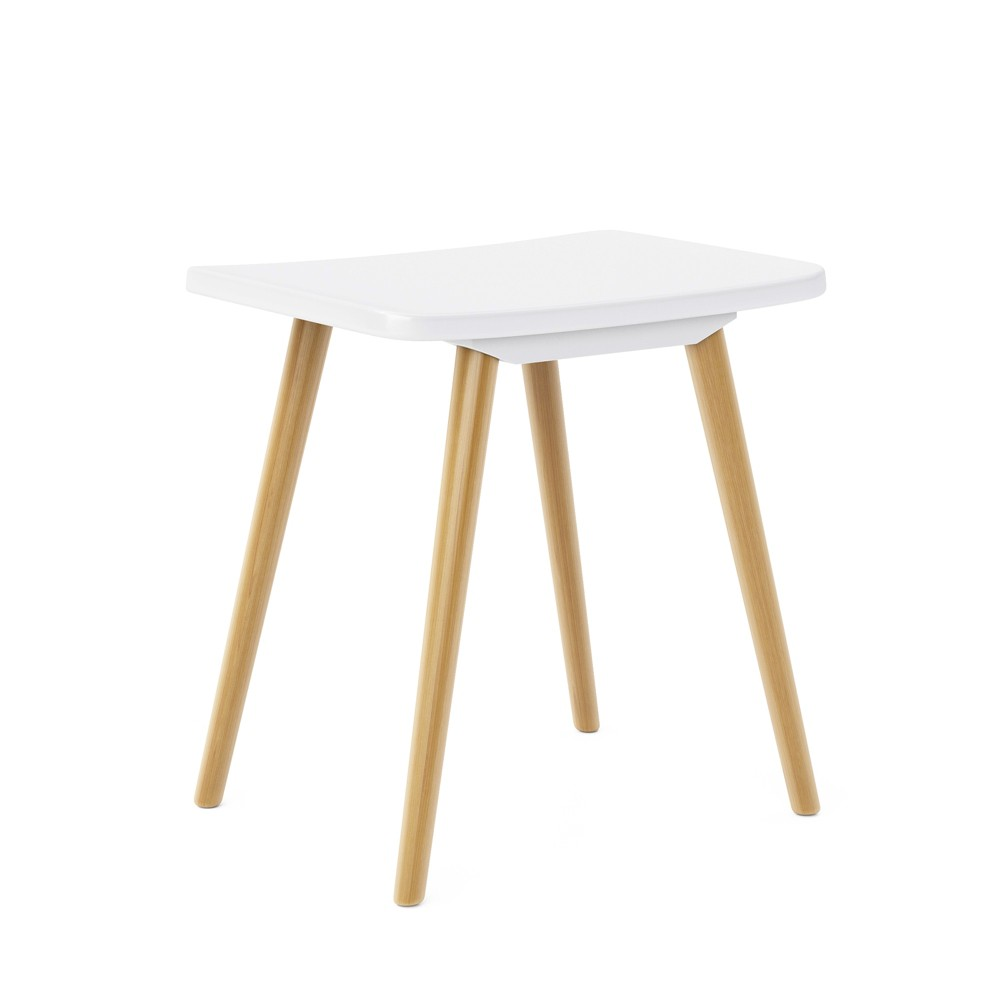 Image of Blythe Saddle Stool White - Jamesdar