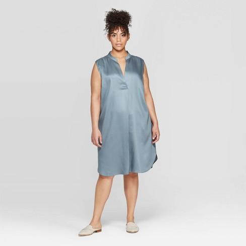 Women\'s Plus Size Strapless Deep V-Neck Tunic Dress - Prologue™ : Target
