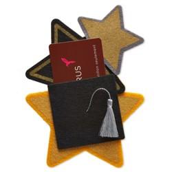 Papyrus Felt Starlight Graduation Gift Card Holder