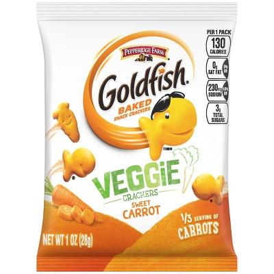 Goldfish Veggie 1oz Single Serve Carrot - 1oz